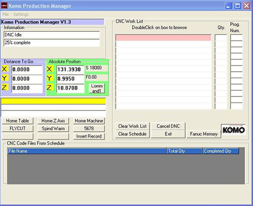 KOMO Production Manager Software