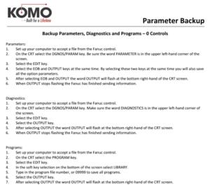 Parameter Backup