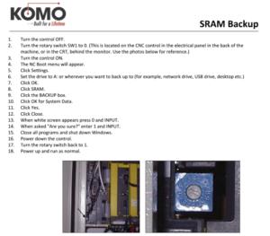 SRAM Backup